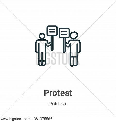Protest icon isolated on white background from political collection. Protest icon trendy and modern