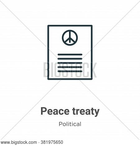 Peace treaty icon isolated on white background from political collection. Peace treaty icon trendy a