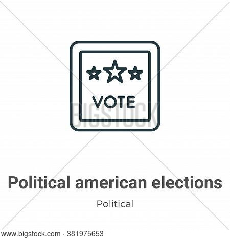 Political american elections publicity badge icon isolated on white background from  collection. Pol