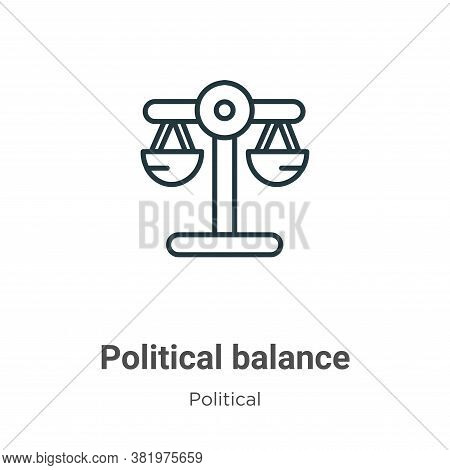 Political Balance Icon From Political Collection Isolated On White Background.