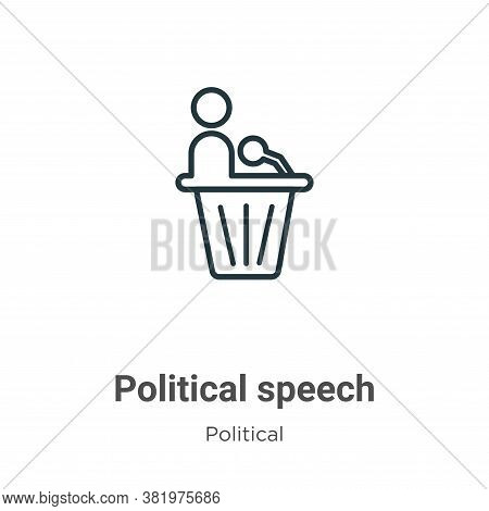 Political Speech Icon From Political Collection Isolated On White Background.