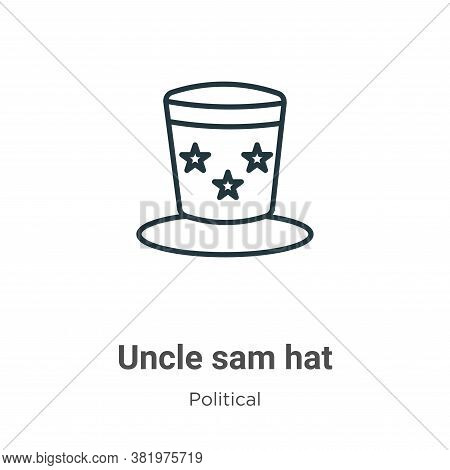 Uncle sam hat icon isolated on white background from political collection. Uncle sam hat icon trendy