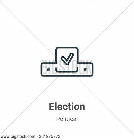 Election icon isolated on white background from political collection. Election icon trendy and moder