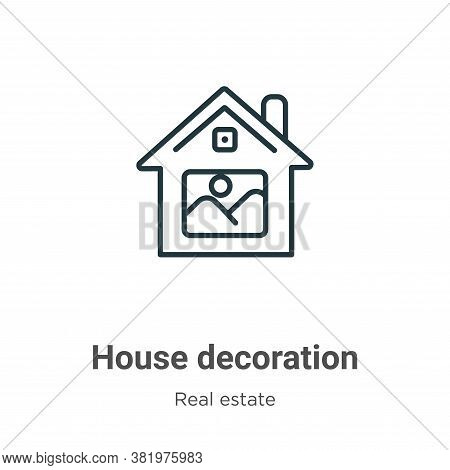 House decoration icon isolated on white background from real estate collection. House decoration ico