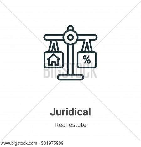 Juridical icon isolated on white background from real estate collection. Juridical icon trendy and m