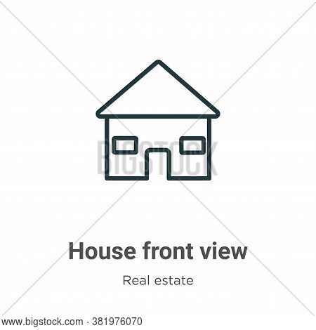 House front view icon isolated on white background from real estate collection. House front view ico