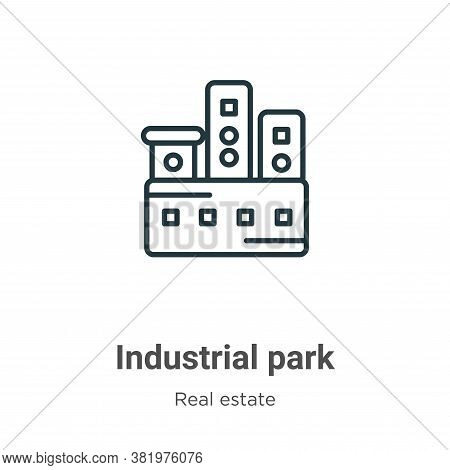 Industrial park icon isolated on white background from real estate collection. Industrial park icon