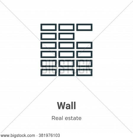 Wall icon isolated on white background from real estate collection. Wall icon trendy and modern Wall