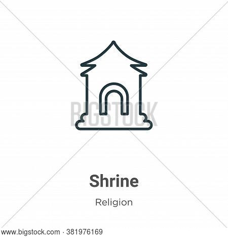 Shrine icon isolated on white background from religion collection. Shrine icon trendy and modern Shr