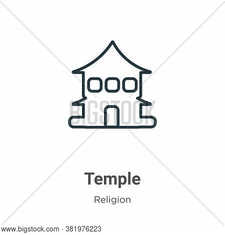 Temple icon isolated on white background from religion collection. Temple icon trendy and modern Tem
