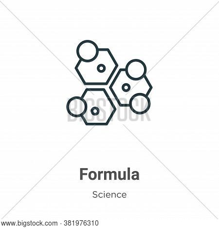 Formula icon isolated on white background from science collection. Formula icon trendy and modern Fo