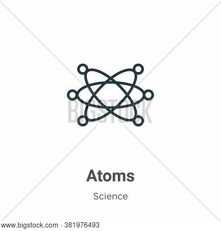 Atoms icon isolated on white background from science collection. Atoms icon trendy and modern Atoms