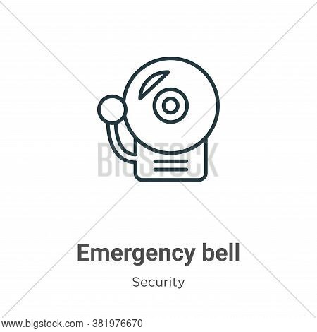 Emergency bell icon isolated on white background from security collection. Emergency bell icon trend