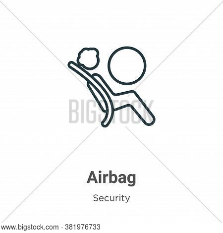 Airbag icon isolated on white background from security collection. Airbag icon trendy and modern Air