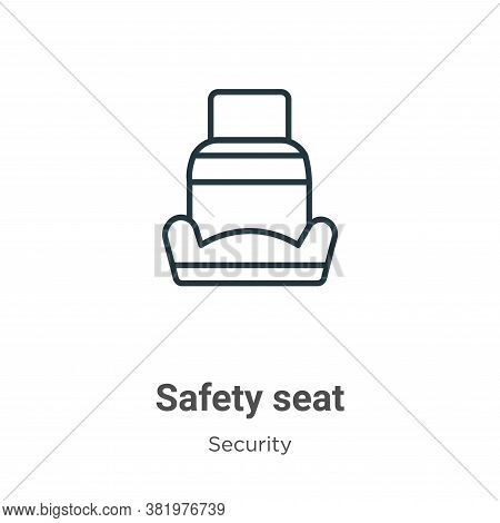 Safety seat icon isolated on white background from security collection. Safety seat icon trendy and