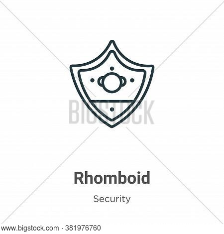 Rhomboid icon isolated on white background from security collection. Rhomboid icon trendy and modern