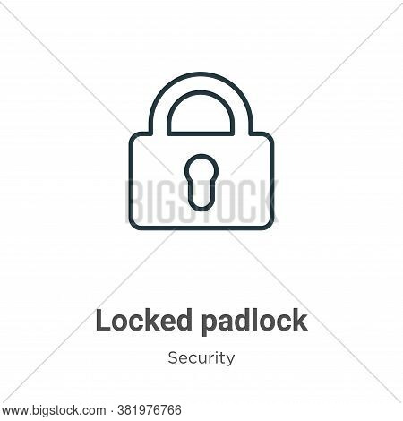 Locked padlock icon isolated on white background from security collection. Locked padlock icon trend