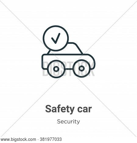 Safety car icon isolated on white background from security collection. Safety car icon trendy and mo