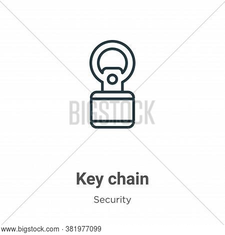 Key chain icon isolated on white background from security collection. Key chain icon trendy and mode