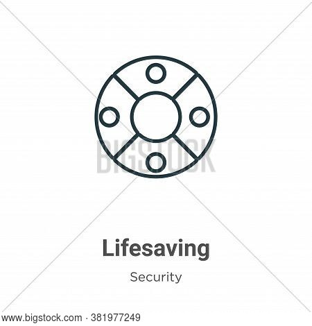 Lifesaving icon isolated on white background from security collection. Lifesaving icon trendy and mo