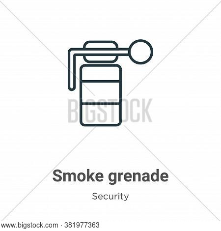Smoke grenade icon isolated on white background from security collection. Smoke grenade icon trendy