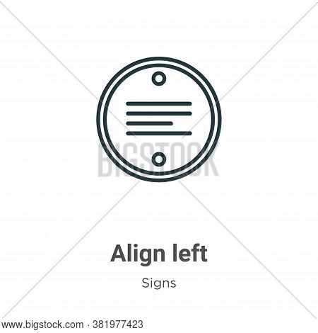 Align left icon isolated on white background from signs collection. Align left icon trendy and moder