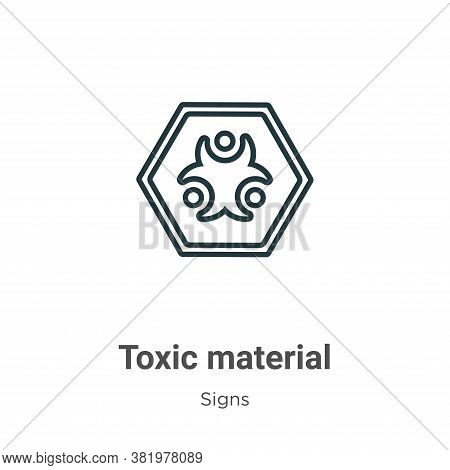 Toxic material icon isolated on white background from signs collection. Toxic material icon trendy a