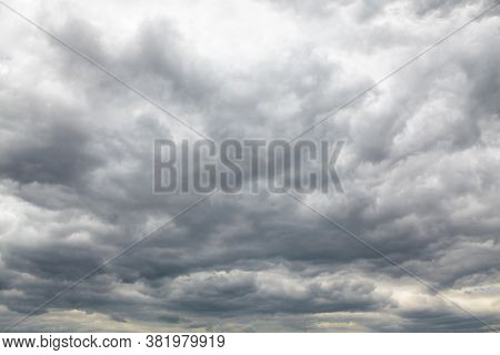 Sky Is Covered With Clouds . Cloudy Overcast