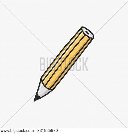 Pencil Vector Hand Drawn Style. Pencil Icon. Pencil Color Vector. Pencil Collection Image. Pencil Dr
