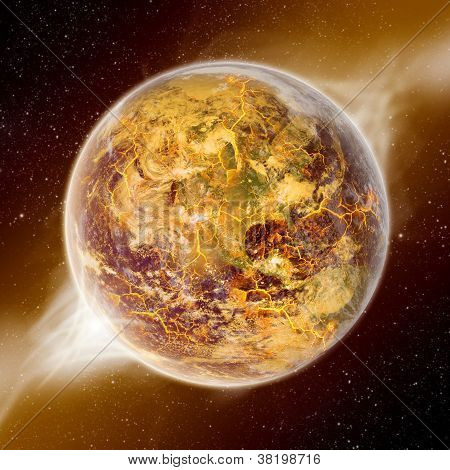 Planet Earth Armageddon, end of the world poster