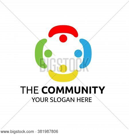 Illustration Vector Design Of Community Logo Template For Business Or Company