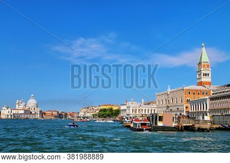 View Of Grand Canal With In Venice, Italy. Venice Is Situated Across A Group Of 117 Small Islands Th