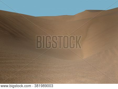 The Beautiful Patterns And Curves Of The Sand Dunes  Of Southern California, Usa, Algodones Dunes! T