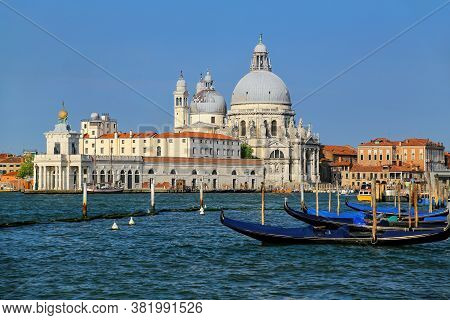 Basilica Di Santa Maria Della Salute On Punta Della Dogana In Venice, Italy. This Church Was Commisi
