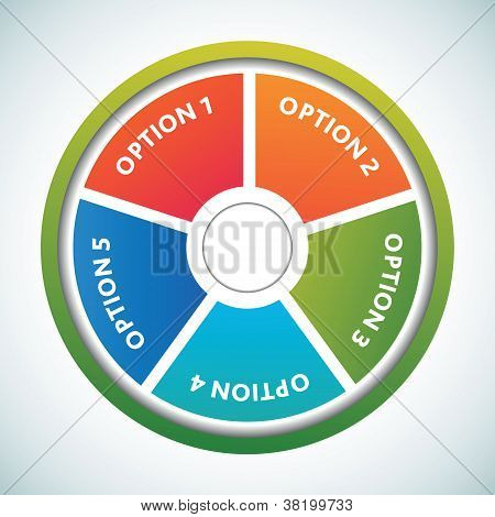 Multicolored presentation color circles template