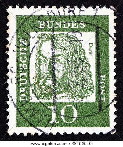 Postage stamp Germany 1961 Albrecht Durer, painter and engraver