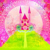 abstract Magic Fairy Tale Princess Castle , raster poster
