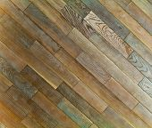 Oak wood texture of floor with natural patterns poster