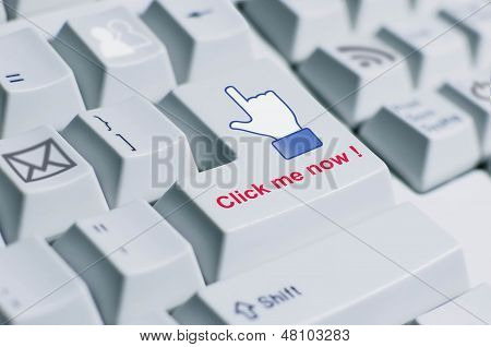 Click Me Keyboard Sign.