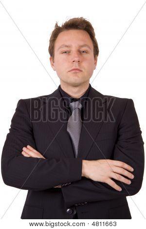 Suspicious Businessman