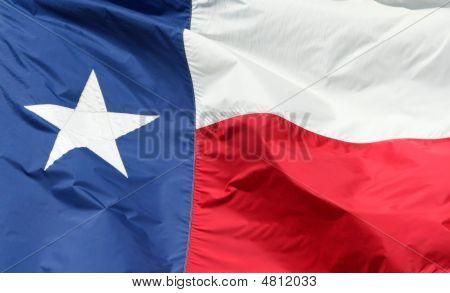 Texas State Flag Closeup