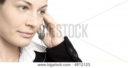 Operator mit Headset