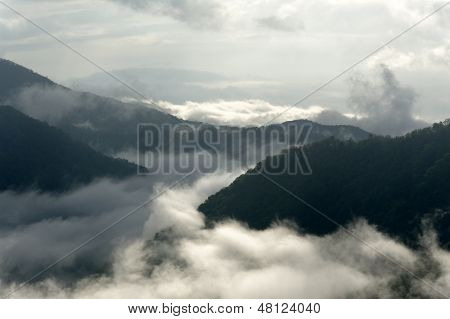 Trail Of Mist On Mountain
