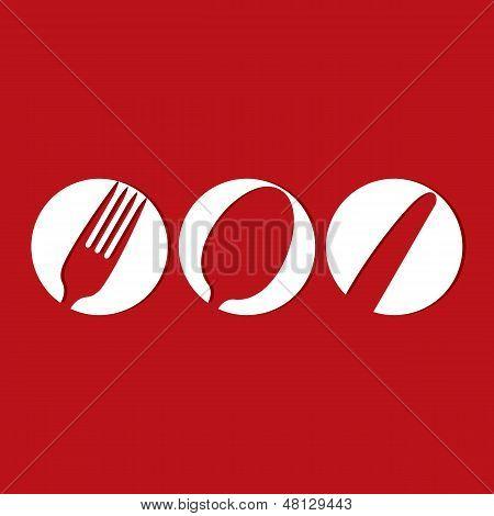 Restaurant Menu Design Whit Cutlery Symbols