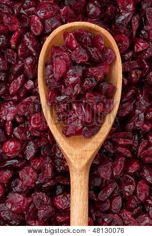 Wooden Spoon With Dried Cranberries