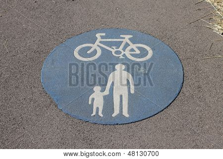 Shared cycle and pedestrian path sign
