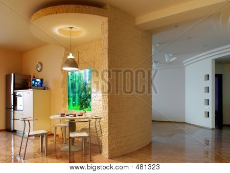 Kitchen And Vestibule
