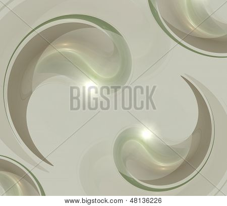 Abstract fractal background in green grey  colors
