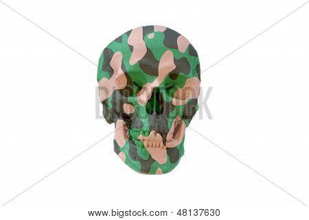 camouflage skull