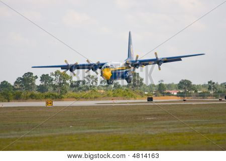 Fat Albert The Blue Angels C130 Coming In For A Landing